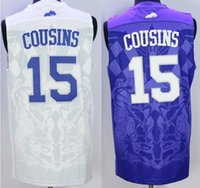 Wholesale 15 DeMarcus Cousins Towns Kentucky Wildcats College blue Jersey size extra small xS S xl