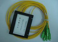 apc optical connector - Fiber optical coupler splitter PLC x4 singlemode with SC APC connectors in out cable m BOX type