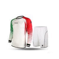 Wholesale Kelme K15Z209 Men Long Sleeve Tight Printing Wicking Super Stretch Competition Training Soccer Goalkeeper Suit White Red Green