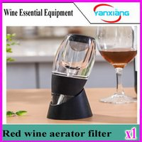 Wholesale CHpost Portable Wine decanter Magic Decanter Red Wine Aerator with Essential Set W Gift Box YX YJQ