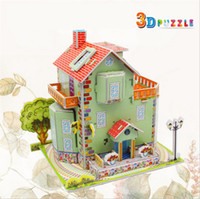 best buildings - Green elf Housings Building Models for Kids Best Original Coated Paper EPS Foam Board Buildings Puzzles Toys for Adults A053