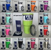 Wholesale YETI Cups Rambler Tumbler Colors oz Cars Beer Mug with Lid Large Capacity Tumblerful ml Yeti cup Fast Ship by DHL