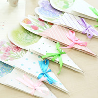 Wholesale Mid autumn Festival DIY Creative Flower Gift Message Postcard Birthday Greeting Cards New Design Multicolor Card WZ