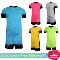 Wholesale Blank board football jersey soccer team Suit training suit breathable short sleeved men sports shirt can customized