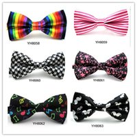 Wholesale 78 Style Rushed Special Offer Print Adult Fashion Rayon Bow Tie Grid Men And Women General Neckties Tie