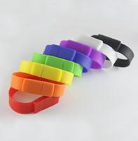 animal memory cards - USB pendrive silcon bracelet band USB flash drive GB U disco GB freeshipping Flash memory stick PVC GB flash card GB
