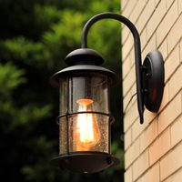 american contemporary - Contemporary contracted American rural industrial outdoor waterproof wall lamp wrought iron wall lamp villa garden balcony corridor hot sell