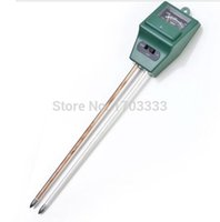 Wholesale 50 pieces in Plant Flowers Soil Test Kits PH Tester Moisture Meter Light Illuminance Analyzer DHL Fedex