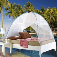 bedding home goods - Summer Mesh Mosquito Net Mongolian Yurt Good Sleep Mosquito Nets For Double Bed Netting Bi Parting Door Soft Netting Sweet Dreams In Stock