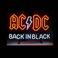 ac dc games - AC DC BACK IN BLACK REAL NEON Real Glass Neon Light Sign Home Beer Bar Pub Recreation Room Game Room Windows Garage Wall Sign