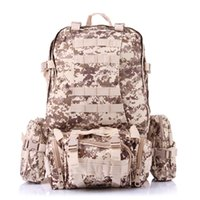 Wholesale 2016 Freeshipping Large Capacity L Backpack Male Outdoor Climbing Multinational Combined Tactical Army Fan Travel Bag