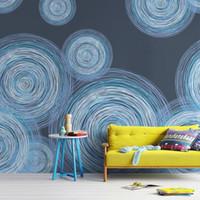 Wholesale Gewu Art Modern simple hand drawn graphics Round decorative fashion home background wall TV background background sofa