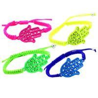 best friends hands - Hot Sale New Fashion Hand Colorful Rope Neon Best Friend Women Lady Hamsa Hand Bracelet Jewelry