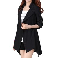 Wholesale New Autumn Casual Women s Trench Coat Turn Down Collar Long Sleeve Thin Windbreaker Outerwear Plus Size Trench Coat For Women lt no tracki