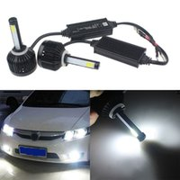 Wholesale New Pair Bright White LED Car Headlight Lamp Bulbs Light W