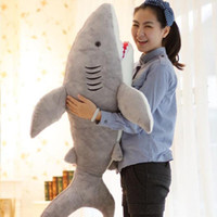 Wholesale BIG SHARK Cushion Soft Toy Large Huge Cute Stuffed Animal Plush Toy Doll Pillow