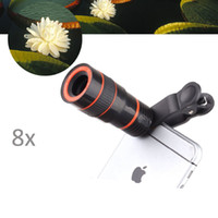 Cheap Wholesale-Universal 8X Optical Zoom Telescope Camera Lens for Mobile Phone iPhone 6S plus Samsung S7 edge S6 Galaxy Note 5 Cellphones 19B