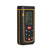 Wholesale Laser distance meter m RZA40 Bubble level tool Rangefinder Range finder Tape distance measurer Area Volume M in Ft