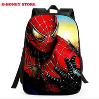 backpack with cooler - New fashion cartoon backpack with zipper fashion style boy cool spiderman bag child schoolbag for kid printing backpack