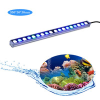 Wholesale factory direct sale Waterproof w led aquarium light bar strip white blue ip65 reef coral fish tank aquariums lighting lamp