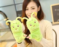 Wholesale Cute cartoon glove ms clamshell new gloves With thick warm Wool cloth with soft nap gloves