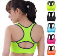 basic materials stocks - Breathable material basic yoga gym sport seamless lady active bra for running basic lingerie bra in stock