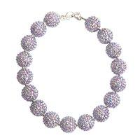 beaded chain jewlery - 2016 New Childrens Girls Chunky Beaded Necklace Kids Toddlers Bubblegum Bead Jewlery Necklace