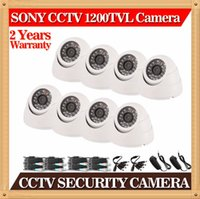 Wholesale CIA SONY HD P TVL CCTV fixed lens indoor security dome cameras kit mm MM lens IR Camera included all cable in