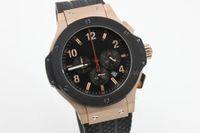 big rose quartz - fashion brand watch men quartz chronograph function sports watch big bang rose gold watch black rubber band watches men dress wristwatches