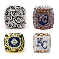 4 PC Reales de Kansas City anillos de campeonato de la Serie Mundial de tamaño 11