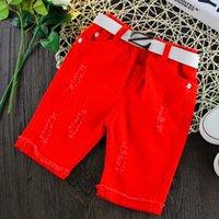 Cheap Korean Denim Shorts Kids Pants Child Clothes Kids Clothing 2016 Summer Shorts Kid Boys Girls Ripped Jeans Children Shorts Lovekiss C26060