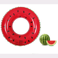 Wholesale New fruit swim ring PVC fruit inflatables watermelon swim ring cm70cm80cm90cm