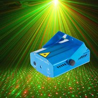 Wholesale New Mini Laser Stage Lighting Mixed Red Green Stroboflash Holographic Laser Lighting R G DJ Disco Home Party Stage Light