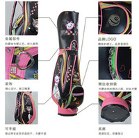 Wholesale The newest Women MEN fashion cat golf bag limit sale golf ball bag stand pu club bag