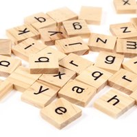 Wholesale Wooden Scrabble Tiles Lowercase Letters Board Alphabet Toys Baby Educational Gift Early Learning Brain Treater For Kids