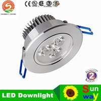 aluminum kitchen sinks - 100pcs Recessed LED Downlight W W W Dimmable Ceiling lamp AC85 V White Warm white LED Down Lamp Aluminum Heat Sink