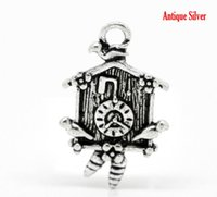 antique cuckoo clocks - 20PCs Antique Silver Cuckoo Clock Charm Pendants x16mm quot x5 quot Mr Jewelry