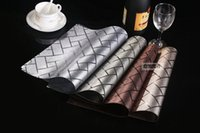 Wholesale New products listed high grade PVC waterproof eat mat inclined latticed european style luxury hotel cafe table mat