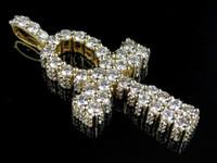 ankh cross pendant - Men s K Yellow Gold D Genuine Diamond Egyptian Ankh Cross Pendant ct quot