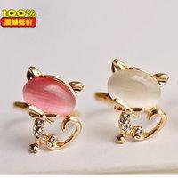 al por mayor cat ring jewelry-Corea del súper Meng anillo de ópalo pequeño diamante gato apertura del anillo del dedo índice del anillo de la joyería al por mayor linda s0075