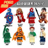 best learn - 480pcs PG8017 Marvel SuperHero Scorpion SDCC Captian America Stan Lee hobgoblin Minifigures Best Kids Education Learning Toys