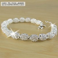 Wholesale 2016 New Sterling Silver women fashion chain charm bracelets bangles high quality bead bracelet Jewelry
