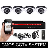 Wholesale professional cctv camera system ch in1 dvr tvl cmos dome camera cctv camera system dvr kit
