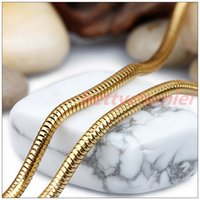 asian snack - Delicate K Gold Plated L Stainless Steel Snack Chain Necklace Women Mens Popular Gift