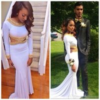 african art sale - 2016 Hot Sale For African Couples Fashion Formal Evening Dresses Long Sleeves Cutaway Waist Sweep Train Prom Event Gowns For Bridal Party
