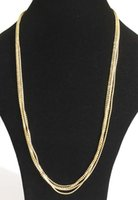 american soldering - New brass diamond cut and snake chains soldered rows station necklace colours a