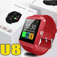 aluminium english - U8 Smartwatch Bluetooth Aluminium alloy Silicone Strap Wrist Watches For IOS Android phones Apple iWatch Wearable Luxury Smart Watches DZ09