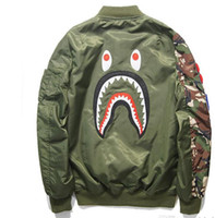 best sport coat for men - Shark Coat for men women best hip hop Autumn Winter jackets embroidery shark windbreaker baseball camo camouflage military sport
