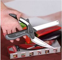 Wholesale High Quality in Kitchen Smart Scissors Knife Set With Mini Cutting Board Clever Cutter in stock