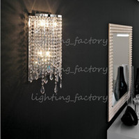Wholesale Bathroom wall lamp lights crystal light Dressing room led Mirror lights abajur bedroom bedside wall Sconce